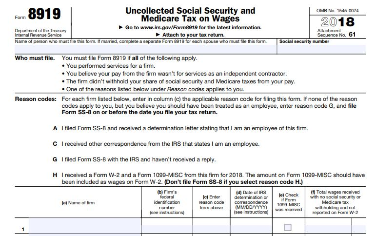 Got a 1099-MISC when you thought you would get a W-2? Meet IRS Form